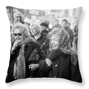 Throw Pillow featuring the photograph Christmas Laughs by Dave Beckerman
