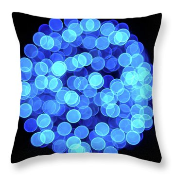 Christmas Lights Illuminate Our Cities Throw Pillow