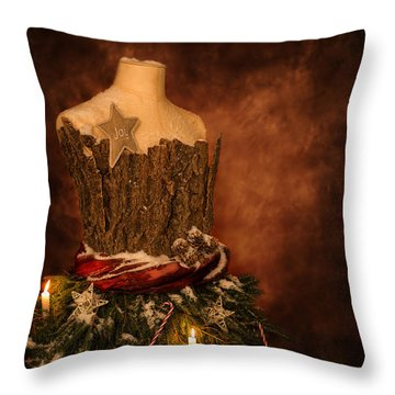 Christmas Mannequin Throw Pillow