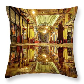 Throw Pillow featuring the photograph Christmas Mood In November by Quality HDR Photography