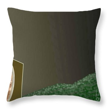Christmas Moon Throw Pillow