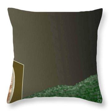 Christmas Moon Throw Pillow