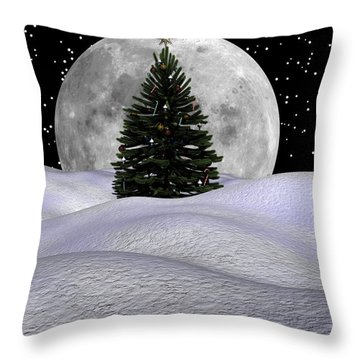 Christmas Moon Throw Pillow by Michele Wilson