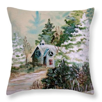 Christmas Morn Throw Pillow by Marilyn Smith