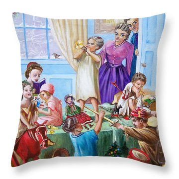 American History  We Say Merry  Christmas  Because It Is Christmas  Throw Pillow