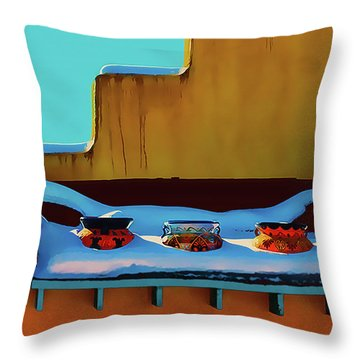 Christmas Morning Taos Throw Pillow