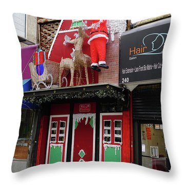 Christmas On Sherman Avenue  Throw Pillow by Cole Thompson