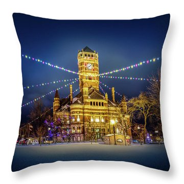 Christmas On The Square 2 Throw Pillow