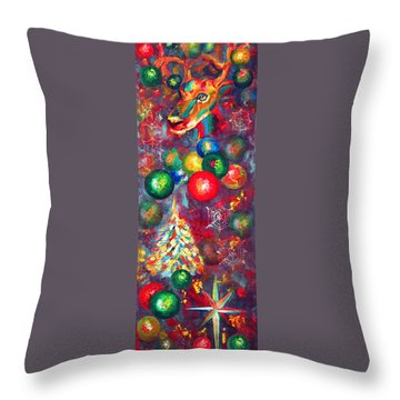 Christmas Orbs Throw Pillow by Peter Bonk