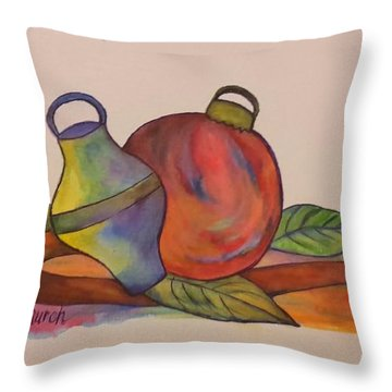 Christmas Ornaments Throw Pillow by Christy Saunders Church