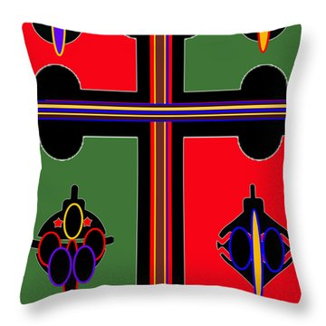 Christmas Ornate 1 Throw Pillow