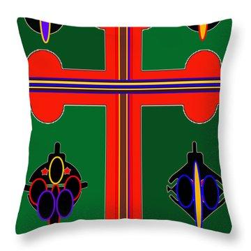 Christmas Ornate 3 Throw Pillow