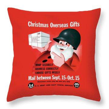 Christmas Overseas Gifts -- Ww2 Throw Pillow