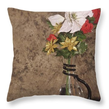 Christmas Pitcher Throw Pillow