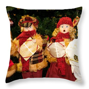 Christmas Quartet Throw Pillow