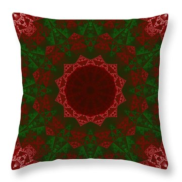 Christmas Quilt Throw Pillow
