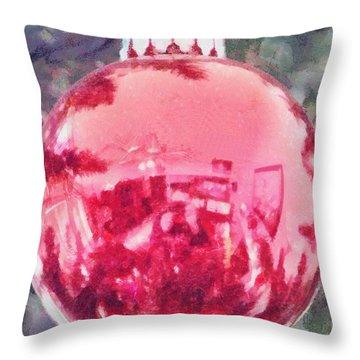 Christmas Reflected Throw Pillow