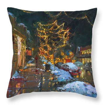 Christmas Reflections Throw Pillow