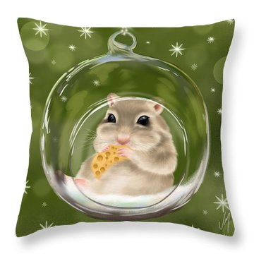 Throw Pillow featuring the painting Christmas Relax by Veronica Minozzi