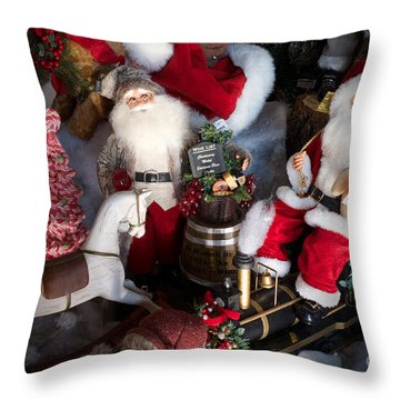 Christmas Rocking Horse II Throw Pillow