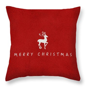 Christmas Series Christmas Deer Throw Pillow