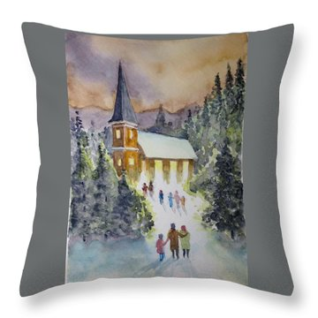 Christmas Service Throw Pillow