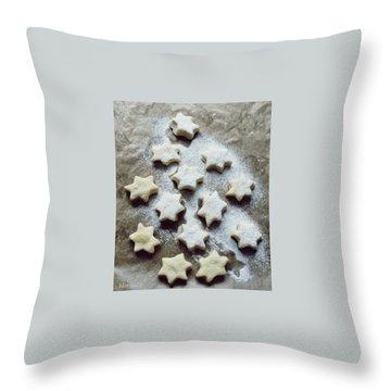 Christmas Stars Throw Pillow by Marija Djedovic