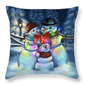 Christmas Stories Throw Pillow