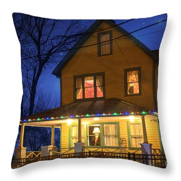 Christmas Story House Throw Pillow