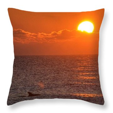 Christmas Sunrise On The Atlantic Ocean Throw Pillow by Sumoflam Photography