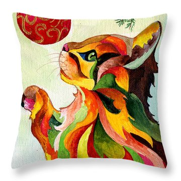 Christmas Tempation Throw Pillow by Sherry Shipley
