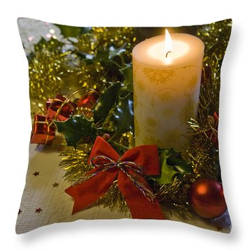 Christmas Time  Throw Pillow by Sophie De Roumanie