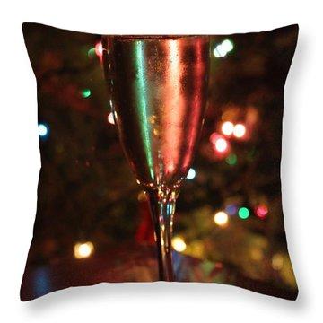 Christmas Toast Throw Pillow by Lauri Novak