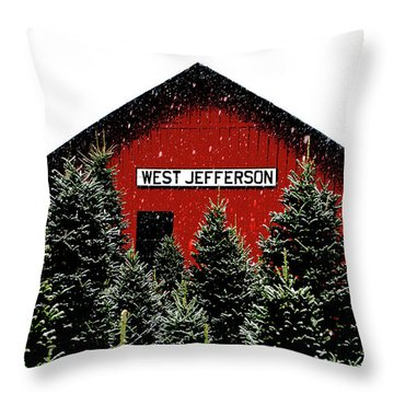 Christmas Town Throw Pillow by Dale R Carlson