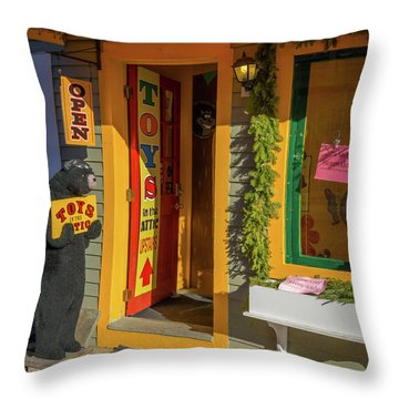 Christmas Toys In The Attic Throw Pillow