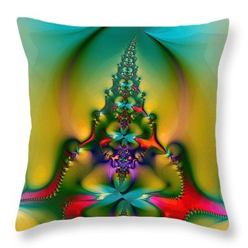 Christmas Tree Throw Pillow by Alexandru Bucovineanu