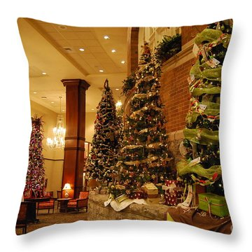 Christmas Tree Throw Pillow by Eric Liller