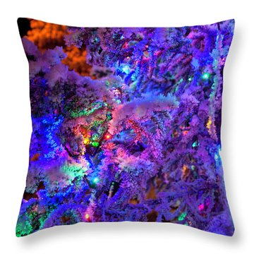 Christmas Tree Night Decoration Throw Pillow