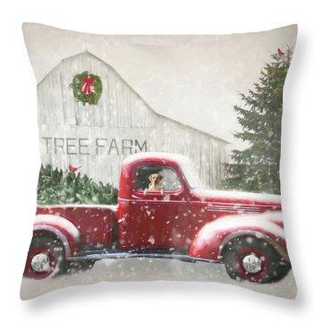Christmas Tree Shopping 3 Throw Pillow