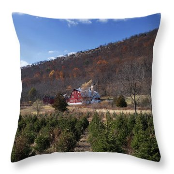 Christmas Tree Shopping Throw Pillow