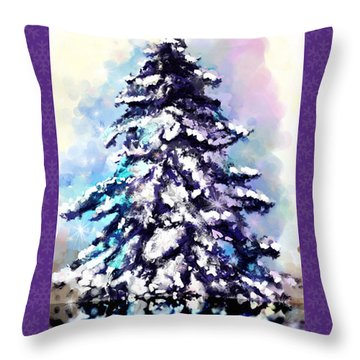 Christmas Tree Throw Pillow by Susan Kinney