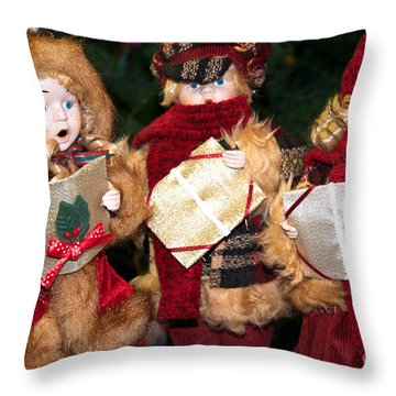 Christmas Trio Throw Pillow