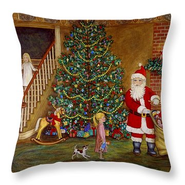 Christmas Visitor Throw Pillow by Linda Mears