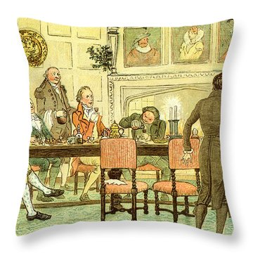 Christmas Welcome From Squire Throw Pillow