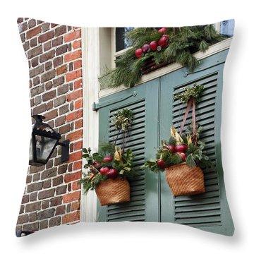 Christmas Welcome Throw Pillow