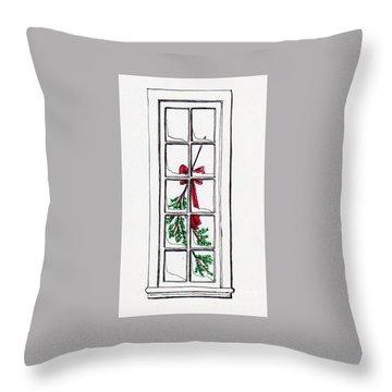 Christmas Window Throw Pillow