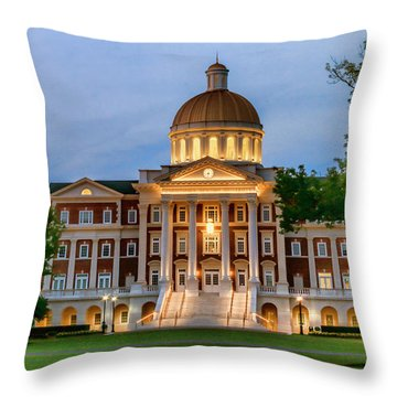 Throw Pillow featuring the photograph Christopher Newport Hall An Exquisite Jewel by Ola Allen
