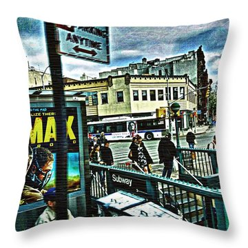 Throw Pillow featuring the photograph Christopher Street Greenwich Village  by Joan Reese