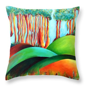 Forest Waltz Throw Pillow by Elizabeth Fontaine-Barr