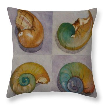 Chromasnail Throw Pillow by Claudia Stewart